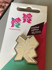 Raro Juegos Olímpicos de Londres 2012 Pin Insignia Logo espejo plata grandes Juegos Paralímpicos