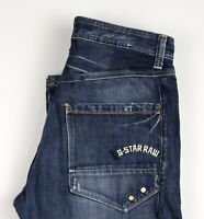 G-Star Brut Hommes Casier Standard Jeans Jambe Droite Taille W33 L34 ASZ1509