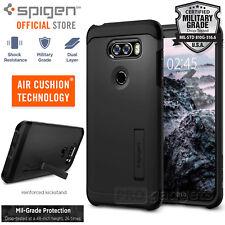 Spigen LG V30 Tough Armor Shockproof TPU Kickstand Case Cover Black