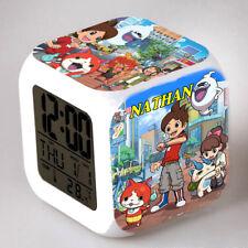 Reveil cube led lumière nuit alarm clock yo kai personnalisé prénom  réf 15