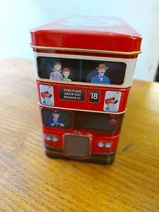 FAB NESTLE KIT-KAT KITKAT LONDON DOUBLE DECKER BUS BUS NOVELTY STORAGE TIN EMPTY