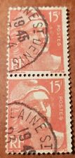 GM7 France 15f Rose-Carmine Cancellation 1945 2 Used Stamp