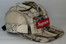 Supreme Aspen Wood Camo Side Mesh White S/S 2014 Camp Cap 5 Panel Hat Deadstock