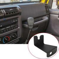 Cb Mic Holder Mount Handheld Microphone Radio Walkie Talkie Bracket Mountin L2T4