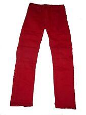 H & M tolle Jeans Hose Gr. 152 einfarbig rot !!