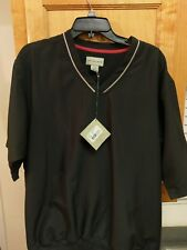 New Cutter & Buck Golf Pullover Sz M Zip Black Wind Water Resistant RBC