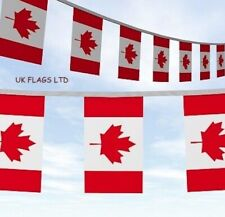 More details for 10 20 50 100 metre's canada day  canadian maple leaf flags rugby party bunting