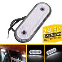 1PCS 20LED White LED Car Light Oval Clearance Trailer Truck Side Marker Lamp