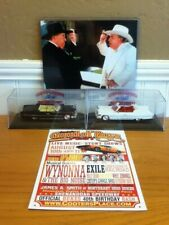 Dukes of Hazzard General Lee 1/43 Boss Hogg + Twin Brother Cadillac w/Bullhorns