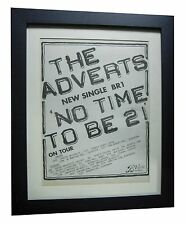 THE ADVERTS+No Time To Be 21+POSTER+AD+ORIGINAL 1978+PUNK+FRAMED+FAST WORLD SHIP
