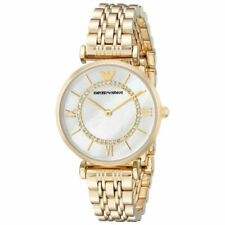 EMPORIO ARMANI AR1907 Gold Tone Classic Mother of Pearl Dial Ladies Watch