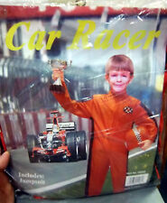 Halloween costume CAR RACER, childs size, new in package, w orange jumpsuit