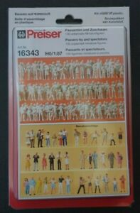 Preiser 16343 Passers-by and Spectators 1:87 HO scale 130 Figures