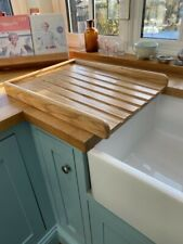 Sloping Solid Oak draining board for a belfast /butler sink oiled finish