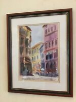 Framed signed original watercolour painting by David Waite