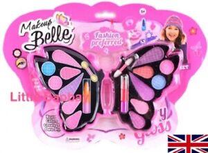 Girls Princess Pretend Makeup Set Butterfly Make Up Kid Children Toy Kit Gift UK