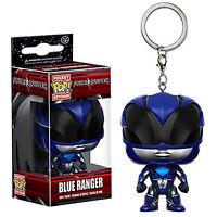 Funko Power Rangers Movie Pocket POP Blue Ranger Vinyl Figure Keychain NEW Toys