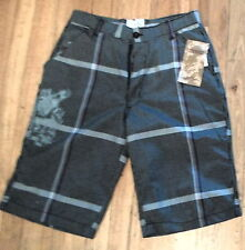 NWT Modern Culture Bermuda Shorts Black/Grey Pattern Sz 30 (S-SHO-979)