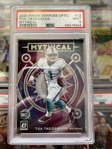 2020 Panini Donruss Optic Tua Tagovsiloa Mythical Holo RC PSA 9 Mint