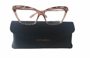 DOLCE & GABBANA Transparent Pink Cat Eye Women's 53 mm Eyeglasses DG5025 3148