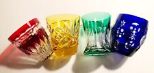 Faberge Na Zdorovye Multi Coloured Shot Glasses. Excellent Condition. Rare