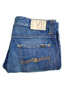 Nudie Jeans Regular Alf Saltwater Blue Men's Jeans Size 34 X 32