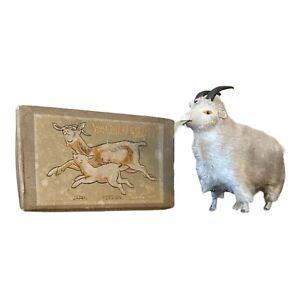 Vintage Wind-Up Walking Goat With Original Box Key Occupied Japan Works