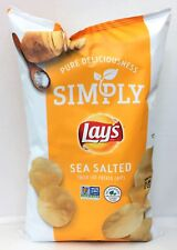 Simply Lay's Sea Salt Thick Cut Potato Chips 8.25 oz Lays