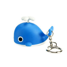 Sound Light Key Chains Flashlights Sound Rings Toys Cute Whale Led Keychains Sl