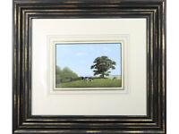 Simon Turvey SWLA Landscape with Cattle - Original Painting signed. watercolour
