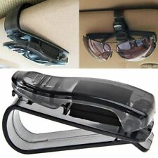 Sun Visor Sunglasses Glasses Card Pen Holder Clip Car Vehicle Accessory Black