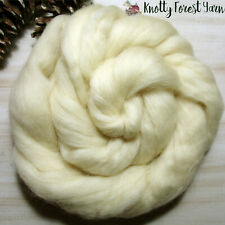 15 Feet Natural Cream Usa Blend Wool Roving Spinning Felting Dolls Crafts 4Oz