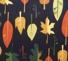 Autumn Leaves on Black Nature Seasonal Fabric Sewing Quilting Craft FQ or Metre