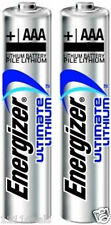 2 Energizer Ultimate Lithium AAA Batteries