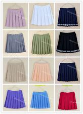 Japanese School Girls uniforms Women Solid Pleated Mini Skirts Sailor College