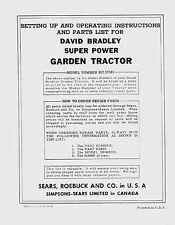 David Bradley Super Power Manual 5/54  917.57561