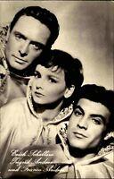 Progress Starfoto DDR ~1957 Erich Schellow, Ingrid Andree Franco Andrei Porträt