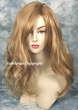 Long Loose Wavy Side Parting Wig In Honey Blonde With Highlights From Fumi Wigs