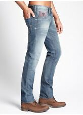GUESS ROBERTSON ALL-AROUND SLIM JEANS IN DOUBLE STONEBERRY WASH SIZE 30