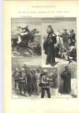 Egipto 1882 prisioneros de guerra campamento espía bedouins Mujer Cojinete Pot