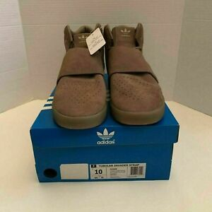 Adidas Tubular Invader Strap Sneakers Suede High Top Shoes Men's Size 10 CG5068