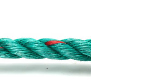mooring rope - floating - 12mm green with red fleck *free postage*