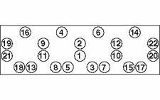 PAYEN Jeu de boulons de culasse de cylindre pour FIAT DUCATO HBS255