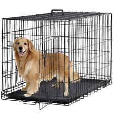 """BestPet Double-Door Metal Dog Crate with Divider and Tray, X-Large, 48""""L"""