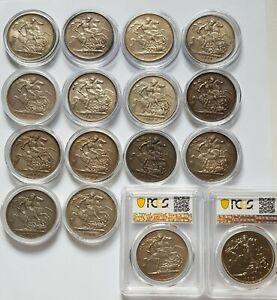 Great Britain Crown Victoria(1887-1900) Edward VII(1902) George VI(1951) 16 Coin
