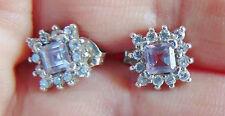 Amethyst Silver Earring Vintage Fine Jewellery