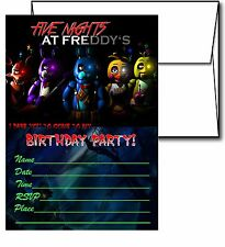 12 Five Night at Freddy's Invitation Cards (12 White Envelops Included) #1