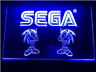 Sega Sonic Blue Neon LED Light Sign Bar Pub Man Cave Game Room Etc