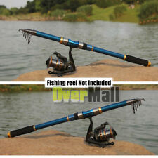 2.1m Professional Carbon Fiber Telescope Fishing Rod Travel Sea Spinning Pole US