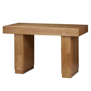 Hardwood Modern Communion Table Medium Oak Stain In Remembrance of Me